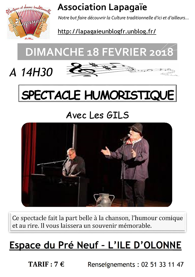 SPECTACLE HUMORISTIQUE